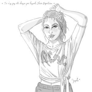 Illustration Claire Defontaine personnage principale flic de la BMS La Brigade du Surnaturel