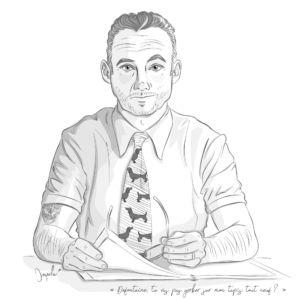 Illustration La Brigade du Surnaturel, Marc lefèvre, commissaire de la BMS