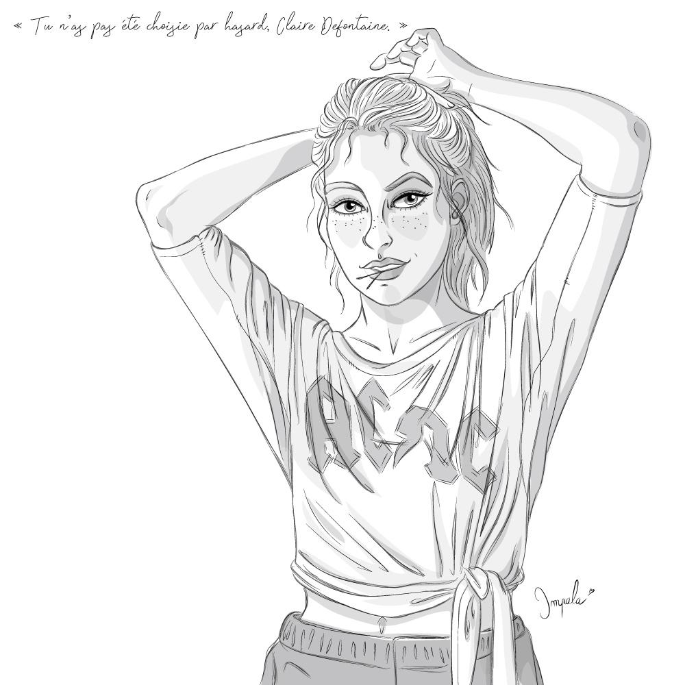 Claire Defontaine personnage principale flic de la BMS La Brigade du Surnaturel