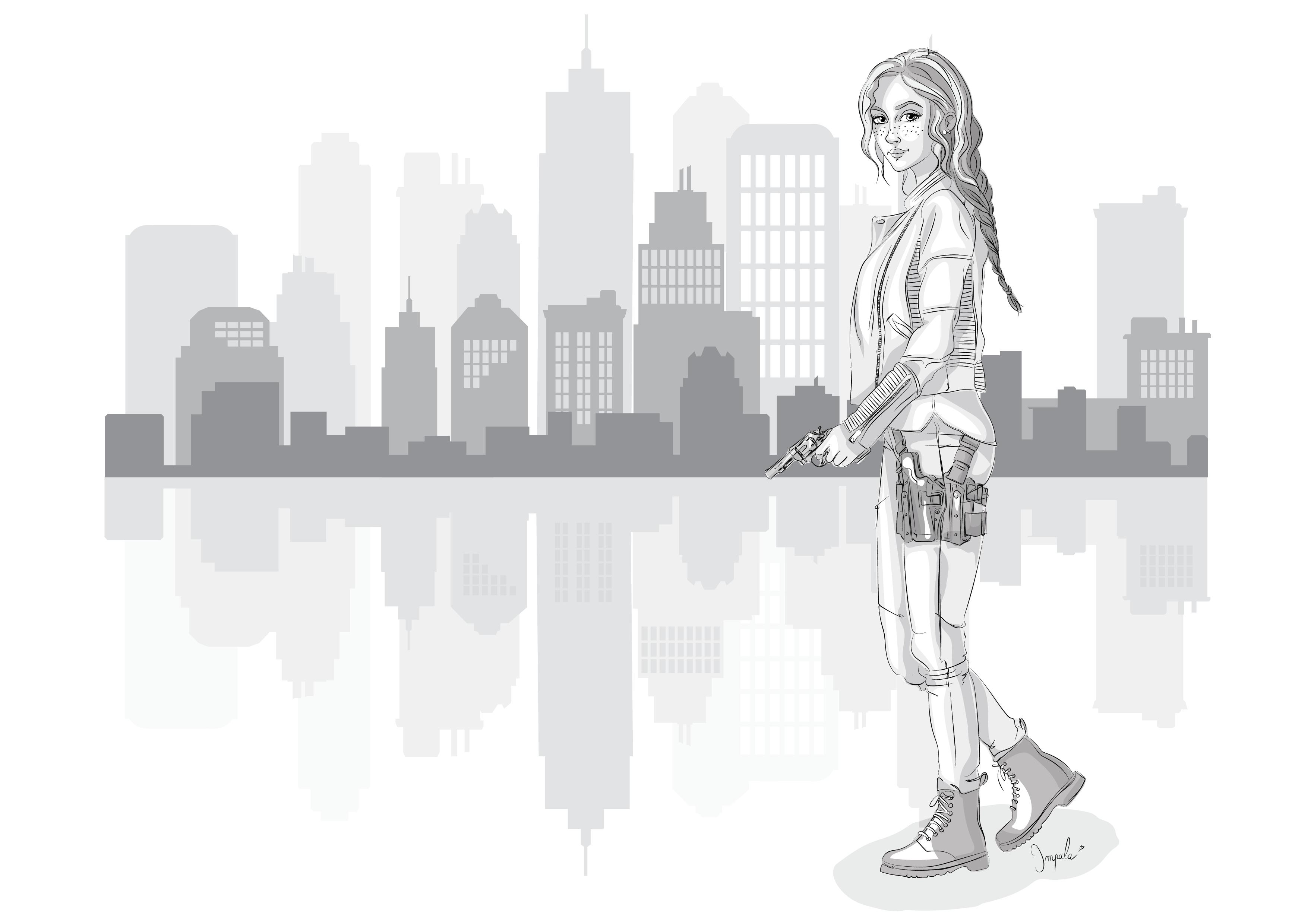 illustration Claire Defontaine ville