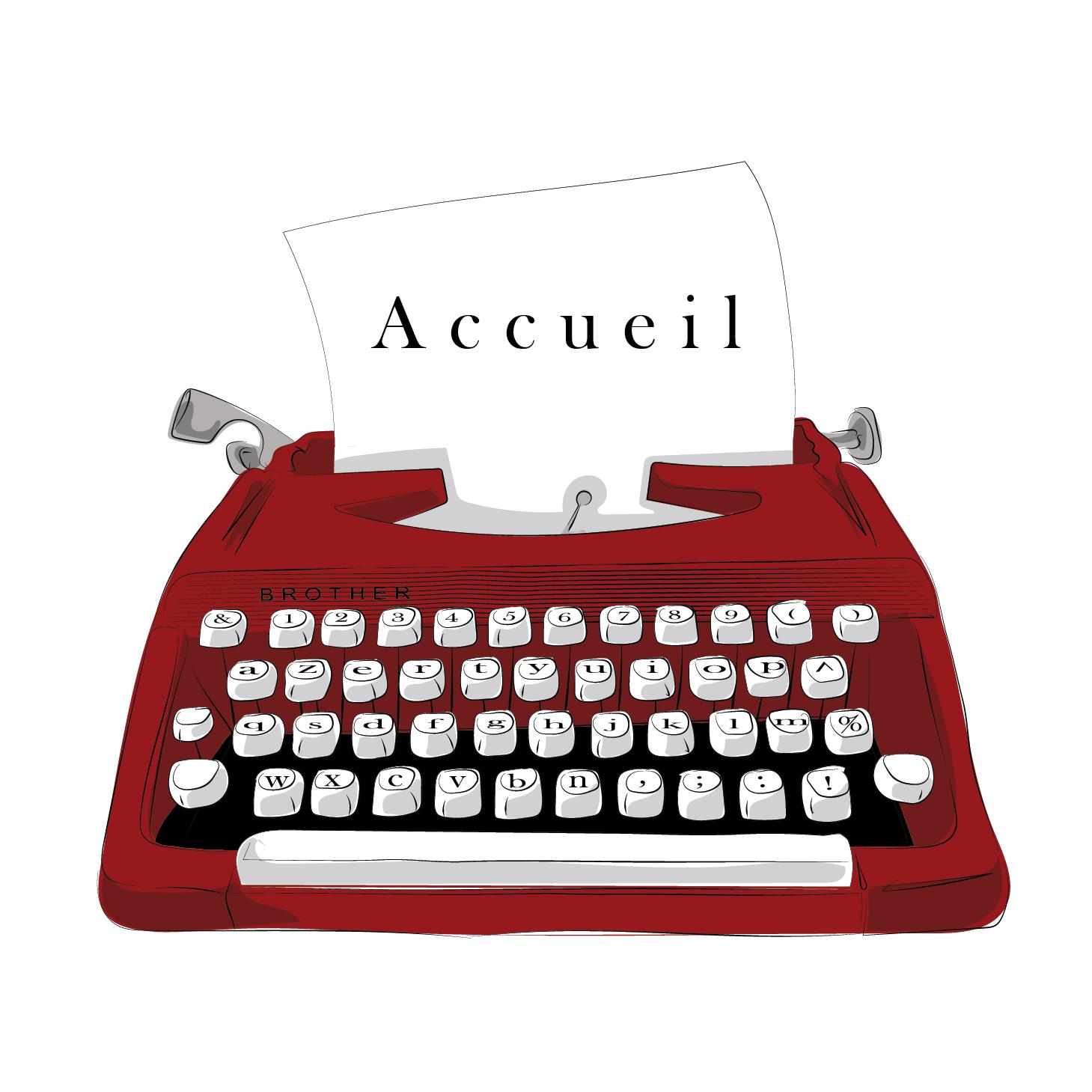 image accueil smartphone machine à écrire
