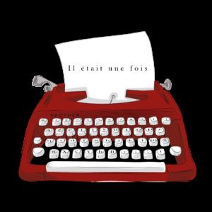machine à écrire rouge il était une fois