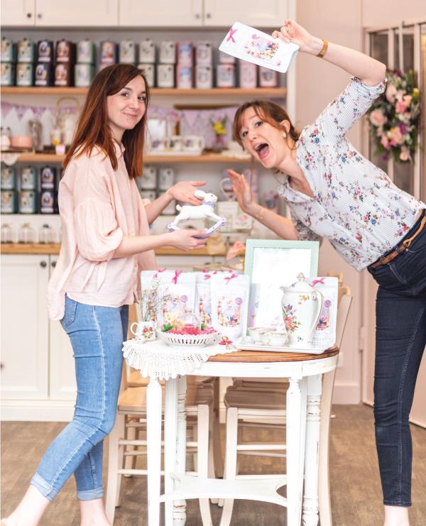 Aline et Floriane, les fondatrices du Jardin de Mademoiselle